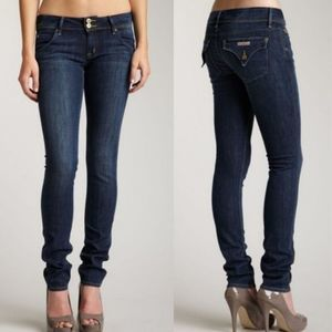 HUDSON Low Rise Dark Wash Collin Flap Skinny Jean